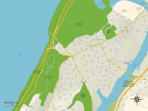 Political Map of Inwood, NY