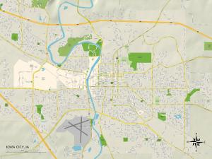 Political Map of Iowa City, IA