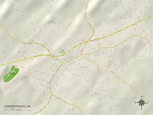 Political Map of Jonesborough, TN