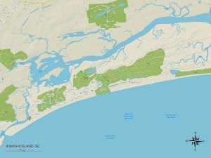 Political Map of Kiawah Island, SC