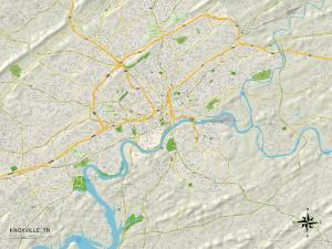 Political Map of Knoxville, TN