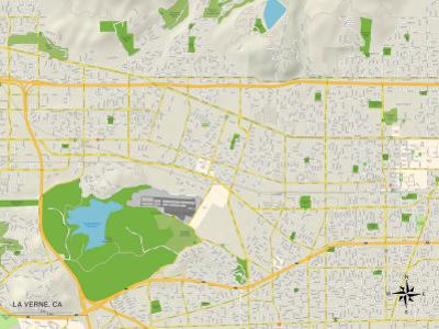 Political Map of La Verne, CA