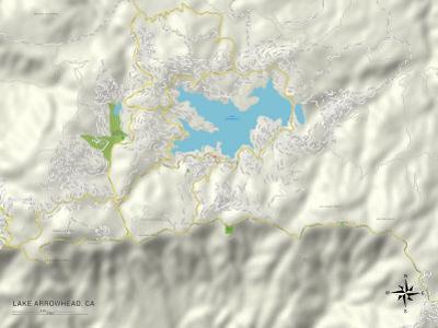 Political Map of Lake Arrowhead, CA
