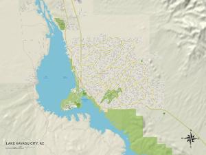 Political Map of Lake Havasu City, AZ
