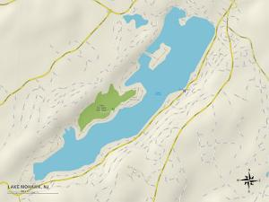 Political Map of Lake Mohawk, NJ
