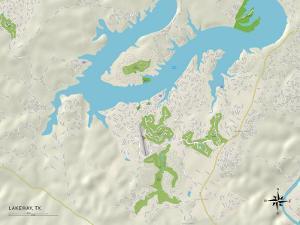 Political Map of Lakeway, TX