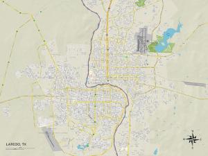Political Map of Laredo, TX