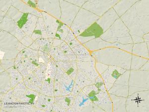 Political Map of Lexington-Fayette, KY