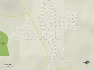Political Map of Linton, ND