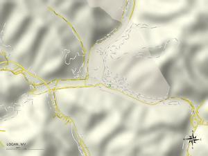 Political Map of Logan, WV