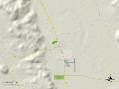 Political Map of Lone Pine, CA