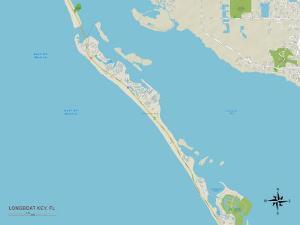 Political Map of Longboat Key, FL