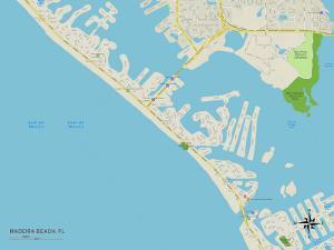 Political Map of Madeira Beach, FL