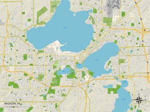 Political Map of Madison, WI