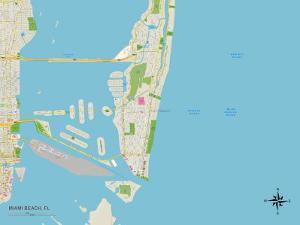 Political Map of Miami Beach, FL