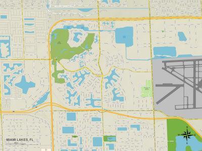 Maps Of Florida Posters At AllPosterscom - Map of florida lakes