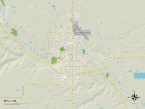 Political Map of Minot, ND