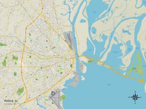Political Map of Mobile, AL