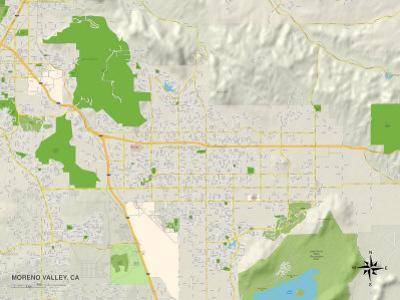 Political Map of Moreno Valley, CA