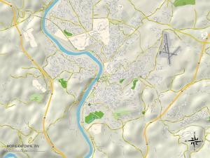 Political Map of Morgantown, WV