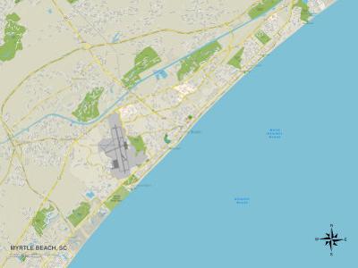 Political Map of Myrtle Beach, SC