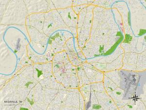 Political Map of Nashville, TN