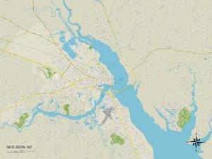 Political Map of New Bern, NC