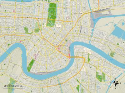 Political Map of New Orleans, LA