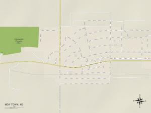 Political Map of New Town, ND