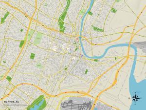 Political Map of Newark, NJ