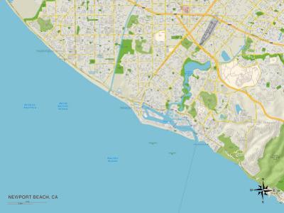 Political Map of Newport Beach, CA