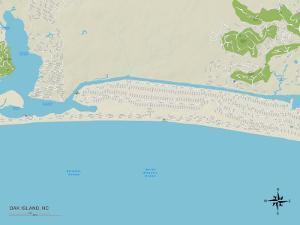 Political Map of Oak Island, NC