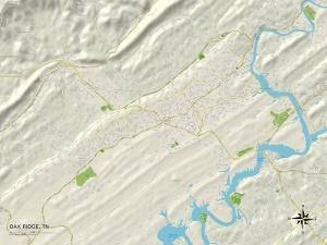 Political Map of Oak Ridge, TN