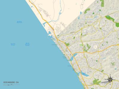 Political Map of Oceanside, CA