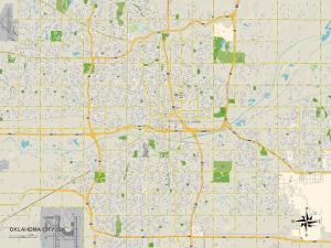 Political Map of Oklahoma City, OK