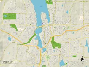Political Map of Olympia, WA