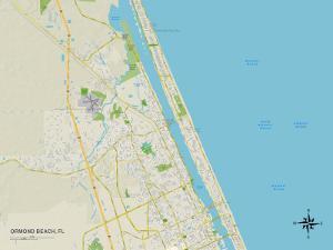Political Map of Ormond Beach, FL