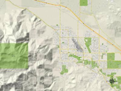 Political Map of Palm Springs, CA