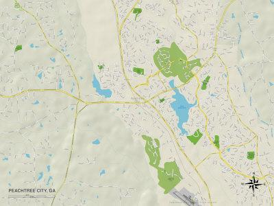 Maps Of Georgia Posters At AllPosterscom - Ga map