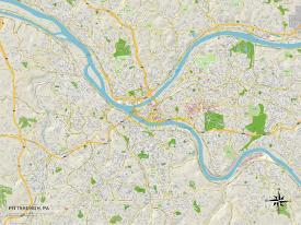 Affordable Maps of Pittsburgh, PA Posters for sale at AllPosters.com