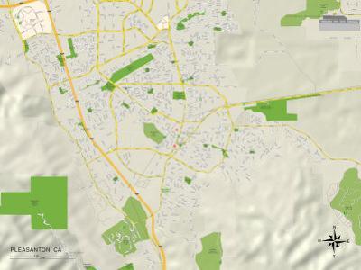 Political Map of Pleasanton, CA