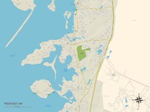 Political Map of Pocasset, MA