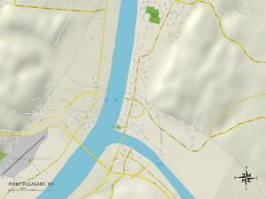 Political Map of Point Pleasant, WV
