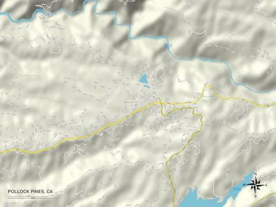 Political Map of Pollock Pines, CA