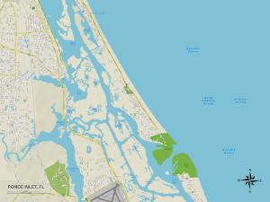 Political Map of Ponce Inlet, FL