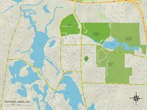 Political Map of Portage Lakes, OH