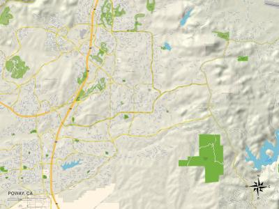 Political Map of Poway, CA