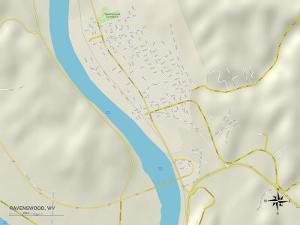 Political Map of Ravenswood, WV