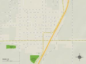 Political Map of Rigby, ID
