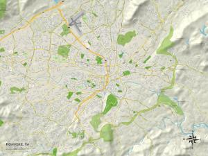 Political Map of Roanoke, VA
